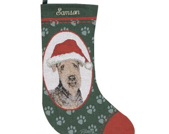 Airdale Dog Personalized Christmas Stocking