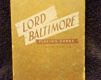 Lord Baltimore playing cards , vintage playing cards , sold at Rexall drug stores , FREE SHIPPING , Cuckoo clock , Bavarian