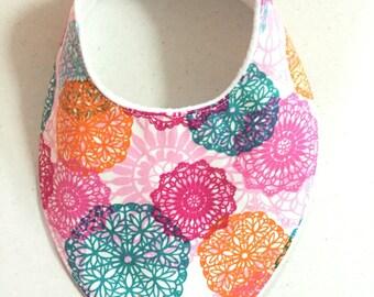 41. Handmade Baby Bandana Dribble Bib Coloured Lace Teething