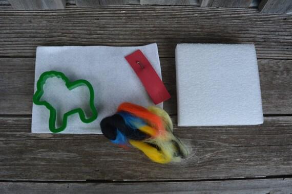 Beginning Felting Kit - Felting kit, Start up kit, Felting, Needle felting