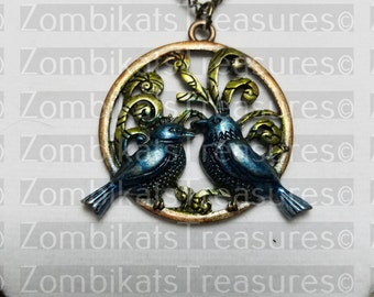 Two Birds Pendant Necklaces