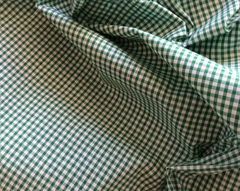 High quality Gingham polycotton poplin. Green no24