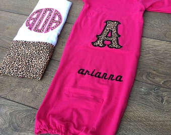 Layette, layette gown, layette baby gown Baby name gown, baby gown up personalized, baby coming home outfit