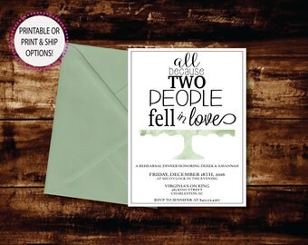 Watercolor Cake Stand Rehearsal Dinner Invitation