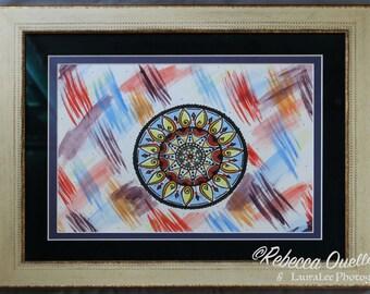 Flaming Sun Tye-Dye Mandala