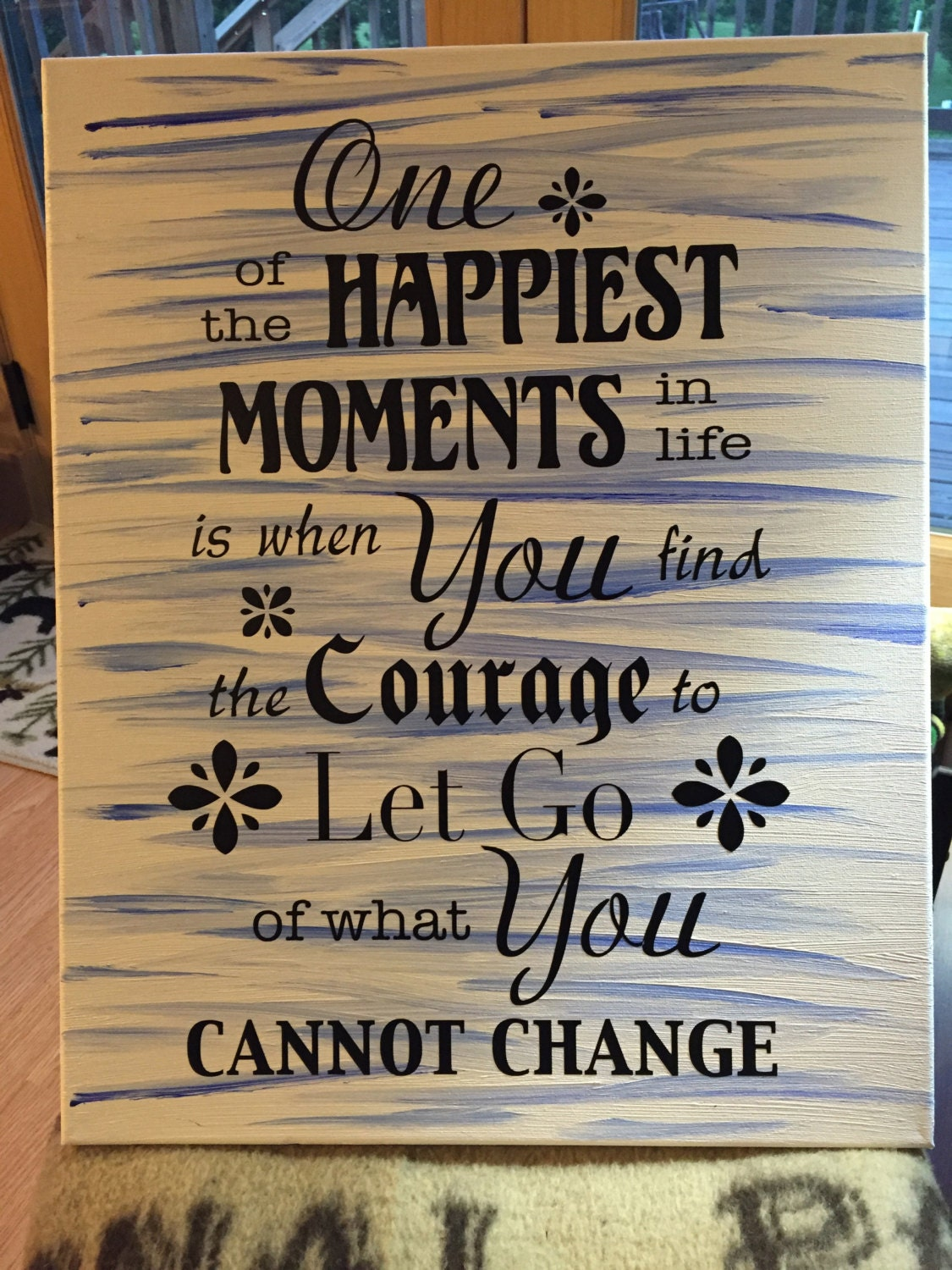 Life Canvas Quote Hand Painted Canvas Custom Quote Canvas Custom Sign Canvas Wall