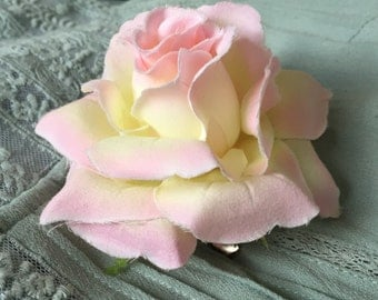 Large rose corsage/ hair clip