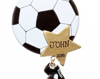 Personalized Ornament-Soccer Star-Free Gift Bag Included