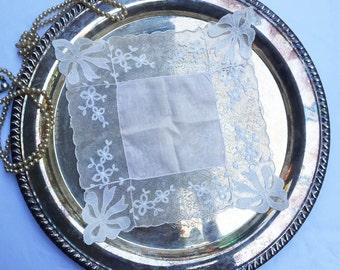 Vintage White Lace Wedding Hankie