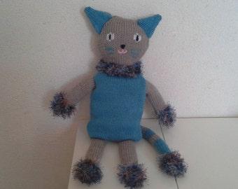 Woolen knitted kitten Plushie