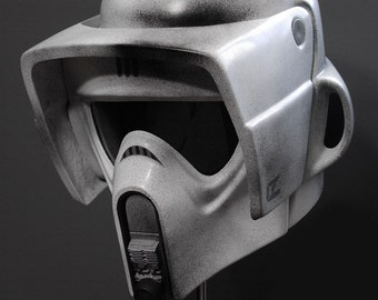 Star wars Scout trooper helmet replica pattern for pepakura to buil your own