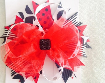 Red and Black fun bow