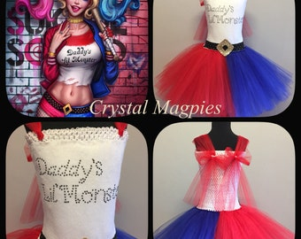 Suicide Squad Harley Quinn inspired tutu dress
