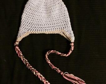 Crochet Donut Hat; Crochet Beanie; Women's Hat; Donuts; Hat woth Earflaps; Crochet Ear Flap Beanie