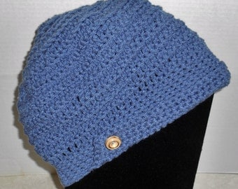 Chemo Hat Cap Crochet Newsboy Style Women's Size S or Child's Size L