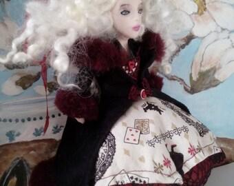 Alice in Wonderland OOAK Art Doll 'Alice Winter Wonder'Alice in Wonderland inspired collectible christmas gift