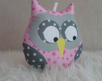 Starry pink musical OWL cushion