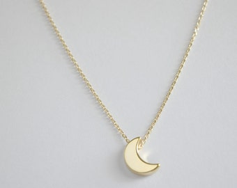Moon necklace, Moon charm  necklace,  bridesmaid gift, gift necklace, G7