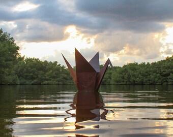 Origami Crane Garden Art