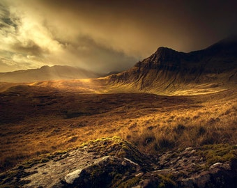 Trotternish Ridge, mountains, Isle of Skye, Scotland, Sky, landscape, photography, wall art