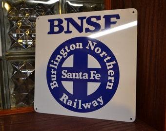 BNSF Burlington Northern Santa Fe Railway Sign