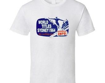 Vintage Surf T-shirt World Titles Sydney Contest 1964