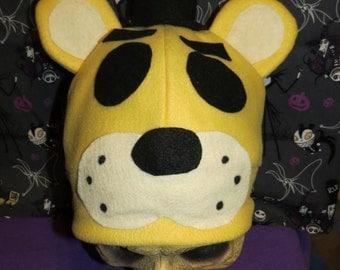 Golden Freddy Bear Inspired Costume Hat Top Hat FNAF