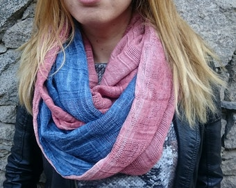Double infinity scarf, chunky scarf, womens scarf, winter scraf, cowl scarf, loop scarf, circle scarf, scarves, womens infinity scarf