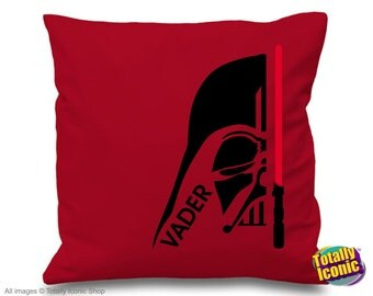 Darth Vader Symbol Star Wars - Pillow Cushion Cover, Star Wars Inspired, Sith Lord, Sith Empire, dark side, galatic empire, galaxy