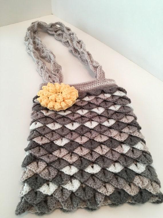 Crocodile Crochet Purse
