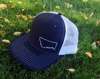 Montana Trucker Hat - Navy Blue