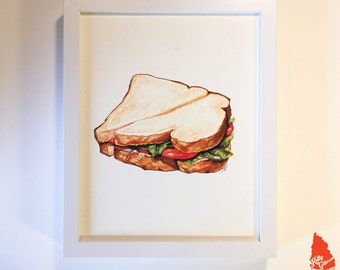 Lunchroom Sandwich Original Artwork