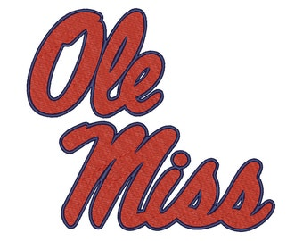 7 Size Ole Miss Rebels Embroidery Design College Football Embroidery Designs Instant Download Machine Embroidery Designs PES