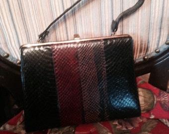 1960's Beautiful Snakeskin Handbag