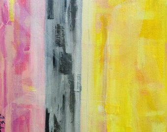 Original Contemporary Abstract Art - Color Fields - Yellows-Grays-Pinks