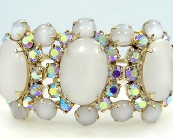 Juliana D & E Moonstone Glass Clamper Bracelet