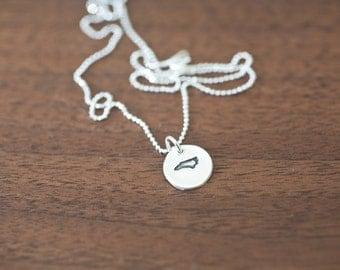 Tiny North Carolina Necklace Silver North Carolina Necklace State Charm State Necklace NC Small State Charm