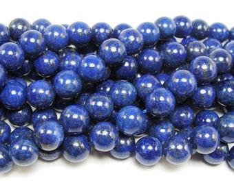 Lapis (Color-Enhanced) Round Gemstone Beads