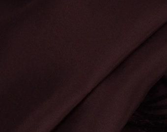 "Brown 100% Silk Crepe de Chine - 45"" Wide - 1 Yard (FABSCDC-BN)"