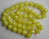 20 Inch Strand Yellow Lucite Moonglow Beads