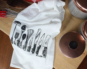 Utensils kitchen towel kitchen towel diagram tea towel towels gift housewarming gift gifs for men gifts