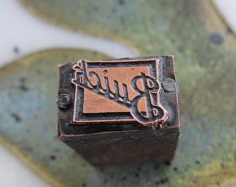 Buick Antique Letterpress Printing Block Automobile Emblem