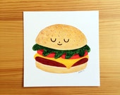 Burger Dude 5x5 Print