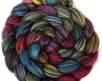Handpainted Baby Alpaca/Silk Roving - 4 oz. ARCADE - Spinning Fiber