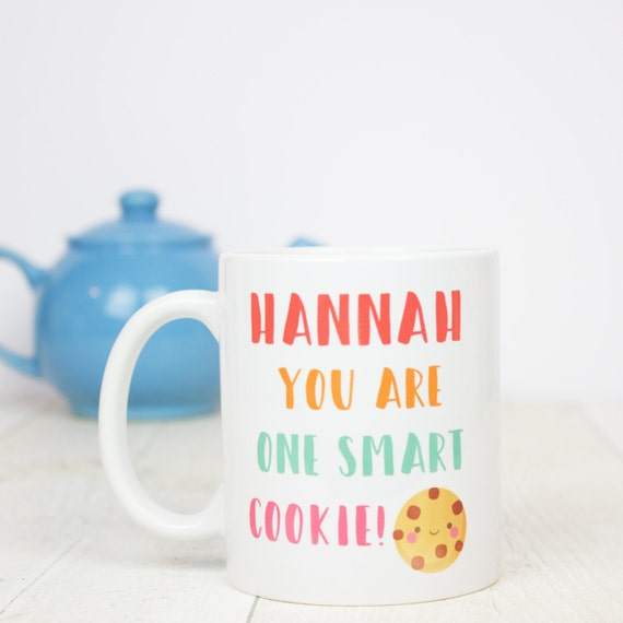 Personalised You are one smart cookie gift mug, great for exam congratulations, graduation or any smart cookie!