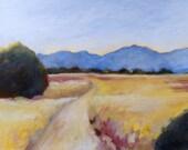 California oil painting print 8 1/2 x11 California landscape Path to the Hills fine art print