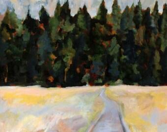 Yosemite Valley Path landscape oil painting print California art