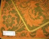 Vintage Hand Towel, 1970s, Seventies, Retro, Linens, Terry Cloth Towel, Cotton Fabric, Bath Linens