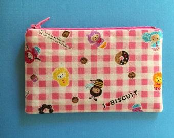 Kids Socking Stuffer - Animals on Pink - Change Purse - Coin Purse - Zipper Pouch