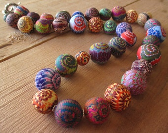 "25"" Stacker Supreme Polymer Clay Beaded Necklace"